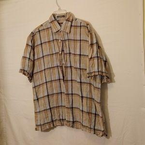 Alan Flusser button down linen shirt